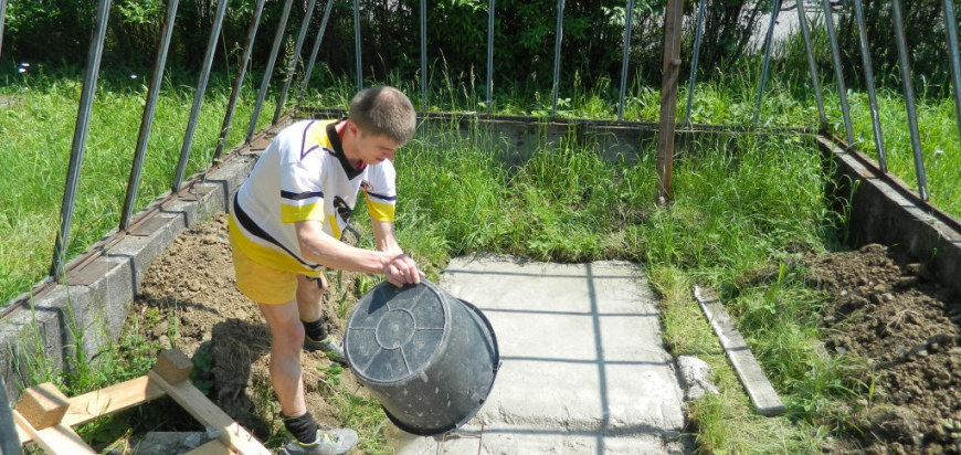 Renovace původního skleníku na zahradě VKCI